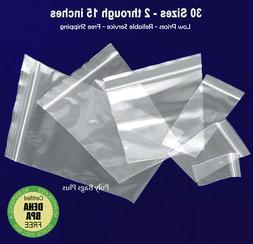 Clear 4-Mil Ziplock Bags HEAVY-DUTY Reclosable Zip Top Plast