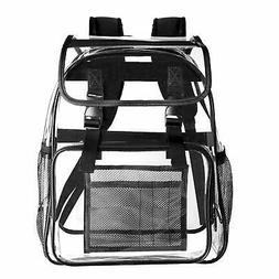 Clear Backpack Transparent Heavy Duty Student Bookbag For Sc