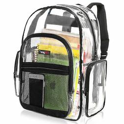 Clear Backpack Transparent See Thru School Security Heavy Du