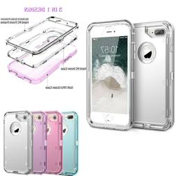 Clear Defender Transparent Case Heavy Duty For iPhone 6 7 8