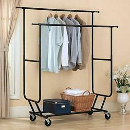 Commercial Heavy Duty Clothing Garment Rack Rolling Scalable