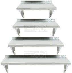 Commercial Stainless Steel Wall Shelf 16 18 Gauge Heavy Duty