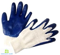 Construction Gloves With Grip Pack Of 12 Pair Heavy Duty For