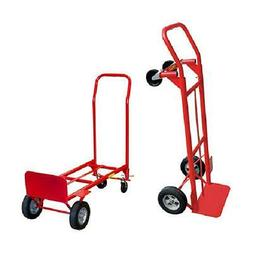 Convertible Hand Truck Dolly 2-in-1 Trolley Moving Aid Cart