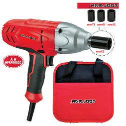 Toolman Corded Impact Wrench 6A 3200 RPM with 4pcs sockets f