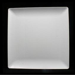 Crown Premium Heavy Duty Plastic Plates - Linear Squared  -