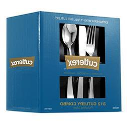 312 Plastic Silverware Set, Silver Plastic Cutlery Set, Disp