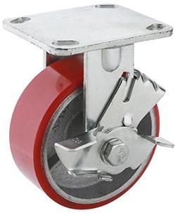 Steelex D2557 Locking Heavy Duty Industrial Wheel, 5-Inch