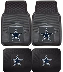 Dallas Cowboys Heavy Duty Floor Mats 2 & 4 Pc Sets for Car T