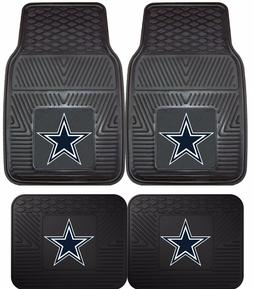 Dallas Cowboys Heavy Duty NFL Floor Mats 2 & 4 pc Sets for C