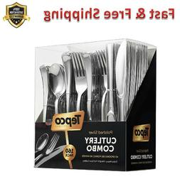 Disposable Silverware Set Heavy Duty Plastic Flatware Forks