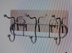Metrekey Door Hooks for Bathroom Adhesive Wall Mounted Rack