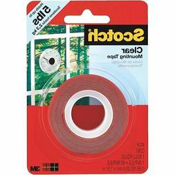 "Scotch Double-Sided Mounting Tape, Industrial Strength, 1"" X"