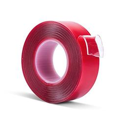 Double Sided Mounting Tape - 1 Inch Wide 10 Feet Long Adhesi
