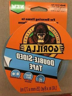 """DOUBLE-SIDED GORILLA TAPE 1.41"""" X 8yd. HEAVY DUTY INDOOR/OUT"""