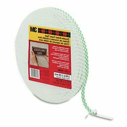 "Double-Coated Foam Tape, 1/2"" X 36 Yards, White, Total 2 Rol"