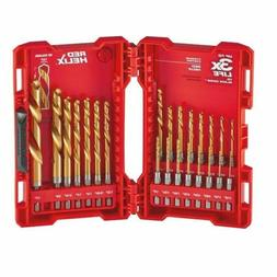 Drill Bit Set Heavy Duty Titanium 23-Pcs Metal Wood PVC Job