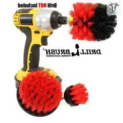 Drill Power Heavy Duty Stiff Bristle Scrub Brush Cleaning Ki