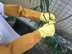 Durable Leather Rose Pruning Gardening Gloves Puncture Resis