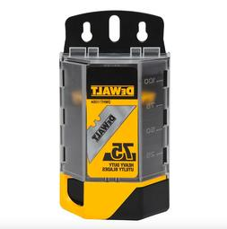 DeWalt DWHT11004 Utility Knife Razor Blades 75 Count