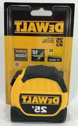 NEW DEWALT DWHT33975 25' TAPE MEASURE HEAVY DUTY 13 FOOT ST