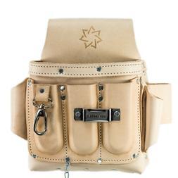 Electrician Tool Pouch Heavy Duty Top Grain Leather 8 Pocket