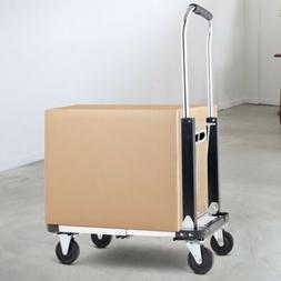 Heavy Duty Foldable Extendable Hand Platform Truck With 4 Wh
