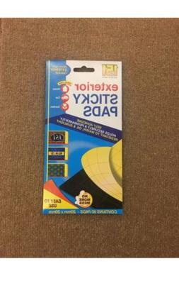 Exterior Heavy Duty Adhesive Sticky Pads Double Sided x 80 P