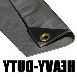 10'X14' EXTRA Heavy Duty 12 mil Silver Tarp 3 Ply Coated Rei