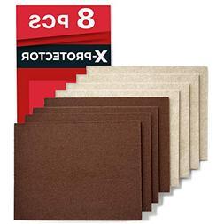 "X-PROTECTOR 8 Pack Premium Felt Furniture Pads 8""x6"" Hea"