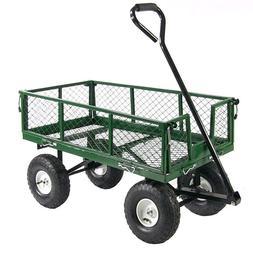 Fishing Cart Heavy Duty Wagon Pneumatic Tires Gardening Work