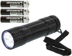 SE - Flashlight - Black Body, 9 LED - FL30709B