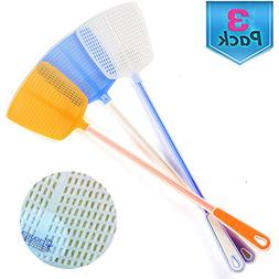 """Fly Swatter Manual Swat Pest Control - 18.5""""- Long Handle -"""