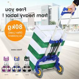 Foldable Hand Truck Aluminum Portable Cart Trolley Dolly Sac