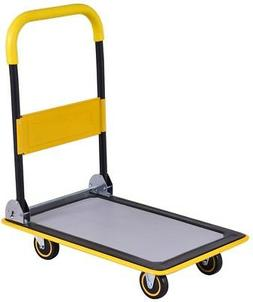 Folding Platform Dolly Cart with Wheels Hand Truck Trolley H