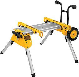 Folding Rolling Table Saw Stand Bench Wheel Heavy Duty Mobil