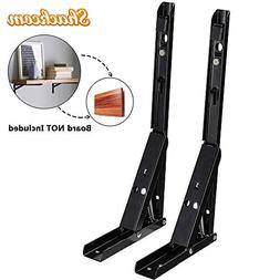 Shackcom Folding Shelf Brackets, 2 PCS 14 Inch Heavy Duty Me