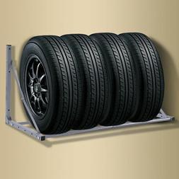 Folding Tire Wheel Rack Storage Holder Heavy Duty Garage Wal