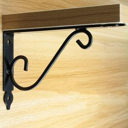 Folding Triangle Heavy Duty L Shaped Wall Shelf Support Brac