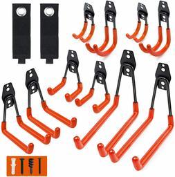 garage utility hooks heavy duty steel double