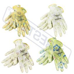 Garden Gardening Yard Gloves Nitrile Dipped Anti-Slip Knit W