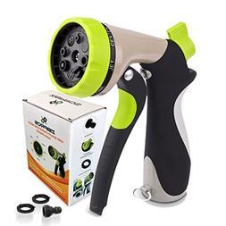 Zibpros Garden Hose Nozzle Spray Nozzle, Heavy Duty 8 Adjust
