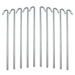 Garden and Tent Stakes 9-Inch Galvanized Steel 10 Piece Set