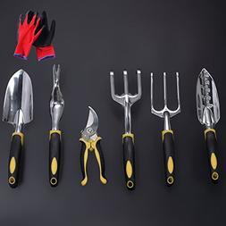 Garden Tools Set, Contains 6 pieces - Transplanter, Includin