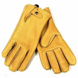 Geier Handmade Heavy Duty Elkskin Leather Driving Work Glove