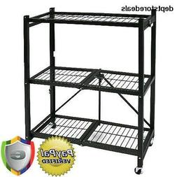 Origami General Purpose Steel Storage Rack with Wheels 3-She