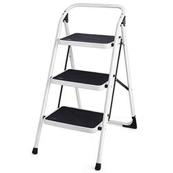 Giantex Hd 3 Step Ladder Platform Lightweight Folding Stool
