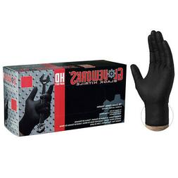 GLOVEWORKS Black Nitrile Heavy Duty Latex Free Disposable Gl