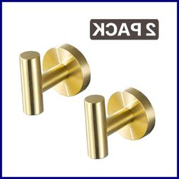 Gold Towel Hooks Bathroom Wall Stainless Steel Heavy Duty Si
