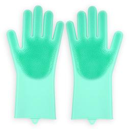 Green Reusable heavy duty water proof resistant silicone dis